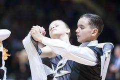 Minsk - mag, 19: Het paar van de Dans van de jeugd Royalty-vrije Stock Fotografie