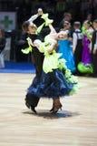 Minsk - mag, 19: Het paarjongere van de dans Royalty-vrije Stock Foto