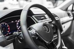 Minsk, Maja 2018 Volkswagen Tiguan wnętrze Obraz Stock