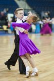 Minsk - May,19: Youth  Dance couple Royalty Free Stock Photography