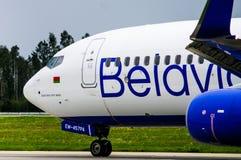 Minsk, Minsk National Airport, Belarus - September 06, 2017: Boe. Ing 737-800 EW-455PA Belavia Airways in new livery Stock Images