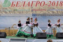 MINSK, MINSKAYA, BELARUS - 05 JUNE 2018: 28th International Specialized Exhibition. `BELAGRO - 2018` and the International Specialized Exhibition `BELFERMA stock photos