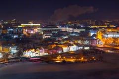 Minsk na noite Imagens de Stock Royalty Free