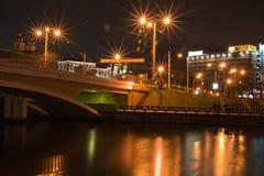 Minsk na noite imagens de stock