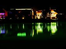 Minsk na noite, Bielorrússia, predmestie de Troickoe Fotografia de Stock