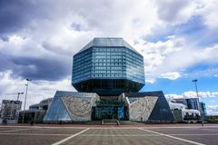 Minsk-Nationalbibliothek stockfotos