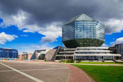 Minsk, Nationalbibliothek stockfotos