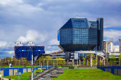 Minsk, Nationalbibliothek stockfotos