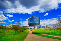 Minsk, Nationalbibliothek stockfotografie