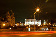 Minsk at night Stock Photos