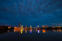 Minsk at night Stock Image