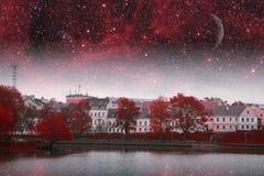 Minsk night. Royalty Free Stock Image