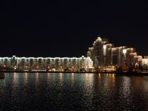 Minsk at night Royalty Free Stock Photography