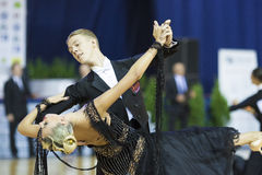 MINSK, OCTOBER, 21: Dance couple Standard Royalty Free Stock Images