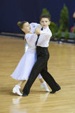 MINSK OCTOBER, 21:Juvenile Dance Couple Royalty Free Stock Images