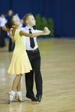 MINSK OKTOBER, 21: Barnsliga danspar Arkivfoton