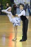 MINSK OKTOBER, 21: Barnsliga danspar Arkivbilder