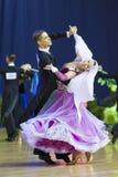 MINSK, PAŹDZIERNIK, 21: Taniec zadziwiająca para Zdjęcie Stock