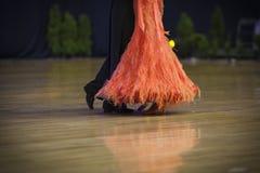 MINSK, PAŹDZIERNIK, 21: Nogi Taniec Para Obraz Royalty Free