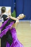 MINSK, PAŹDZIERNIK, 21: Taniec luksusowa para Obraz Royalty Free