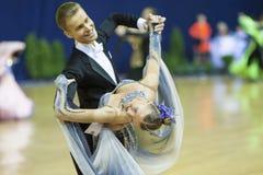 MINSK, PAŹDZIERNIK, 21: Taniec luksusowa para Zdjęcie Royalty Free