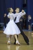 MINSK, PAŹDZIERNIK, 21: Taniec nieletnia para Zdjęcie Stock