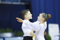 MINSK PAŹDZIERNIK, 21: Taniec nieletnia Para Obrazy Stock