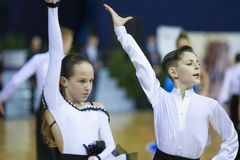 MINSK, PAŹDZIERNIK, 21: Taniec niezidentyfikowana Para Fotografia Stock