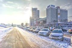 Minsk. Prospect Winners Stock Images
