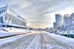 minsk Sportpaleis op boulevard van Winnaars Royalty-vrije Stock Afbeeldingen