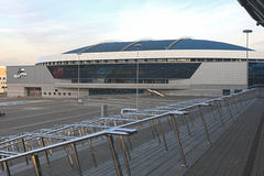 Minsk Velodrome Sport Venue Shot from Stairs of Minsk -Arena Ice Stock Photo