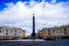 Minsk Victory Monument stock photo