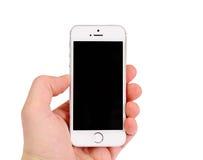 Minsk Vitryssland - April 16, 2016: Apple iPhone 5, 5S Bekläda beskådar Arkivbilder