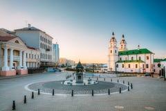 Minsk, Vitryssland Domkyrka av den heliga anden i Minsk - ortodoxa Chu Arkivfoton