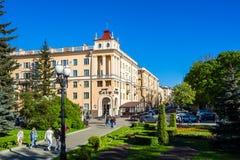 Minsk Vitryssland, gammal arkitektur fotografering för bildbyråer
