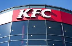 Minsk Vitryssland, juli 10, 2017: KFC snabbmatrestaurang Royaltyfria Bilder