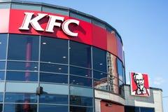 Minsk Vitryssland, juli 10, 2017: KFC snabbmatrestaurang Arkivfoto