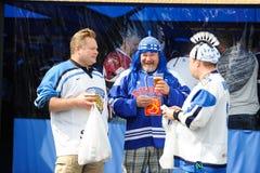 MINSK VITRYSSLAND - MAJ 10, 2014: Världsishockeymästerskapet Arkivfoton