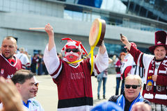 MINSK VITRYSSLAND - MAJ 10, 2014: Världsishockeymästerskapet Fotografering för Bildbyråer