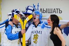 MINSK VITRYSSLAND - MAJ 10, 2014: Världsishockeymästerskapet Arkivfoto