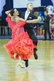 Minsk-Vitryssland Oktober 5, 2014: Yrkesmässiga danspar av Bol Arkivfoton