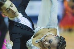 Minsk-Vitryssland Oktober 5, 2014: Yrkesmässiga danspar av Il Royaltyfri Bild