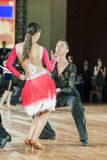 Minsk Vitryssland-September 27, 2015: Kruk Timofei och Konopleva Di Arkivbilder