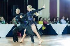 Minsk Vitryssland-September 27,2015: Sazin Artem och Sosnovska Valeri Royaltyfria Foton