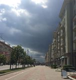 Minsk weather. In July Stock Images