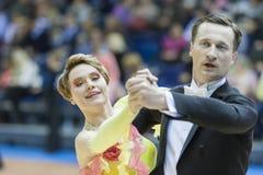 Minsk-Weißrussland, März, 16: Sergey Domorad- – Svetlana Domorad-PET Lizenzfreie Stockfotos