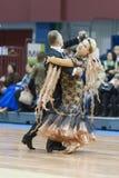 Minsk-Weißrussland, März, 16: Yaroshevich Andrey – Kovaleva Svetla Stockbild