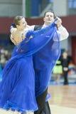 Minsk-Weißrussland, März, 16: Yuriy Puchkov – Tatiana Puchkova pro Stockbild