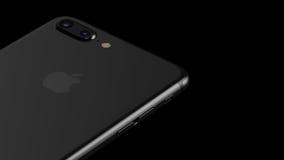 Minsk, Weißrussland - 12. Oktober 2016: Wiedergabe 3D von Apple-iPhone 7 Plus Lizenzfreie Abbildung