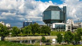 MINSK, WEISSRUSSLAND - 10. Juli 2018: Nationalbibliothek von Weißrussland lizenzfreie stockfotografie